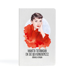 KG Hediyelik Eşyalar - Audrey Hepburn - 9x14 Küçük Defter