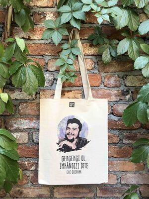 Körüklü Ham Bez Çanta - Che Guevara