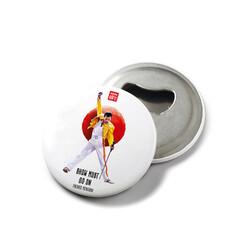 KG Hediyelik Eşyalar - Freddie Mercury - Mıknatıslı Açacak Rozet