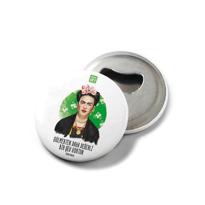 Frida Kahlo - Mıknatıslı Açacak Rozet