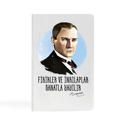 KG Hediyelik Eşyalar - Kemal Atatürk - 13x21 Büyük Defter