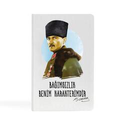 KG Hediyelik Eşyalar - Kemal Atatürk - 9x14 Küçük Defter