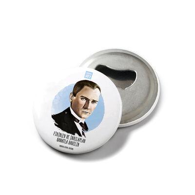 Mustafa Kemal Atatürk - Mıknatıslı Açacak Rozet